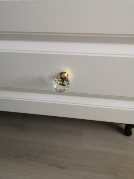 Buton mobila Crystal Palace D30 mm, auriu [4]
