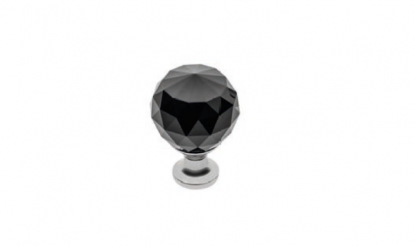 Buton mobila Black Crystal D20 mm 0