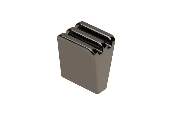 Buton mobila Ganza, negru crom 0