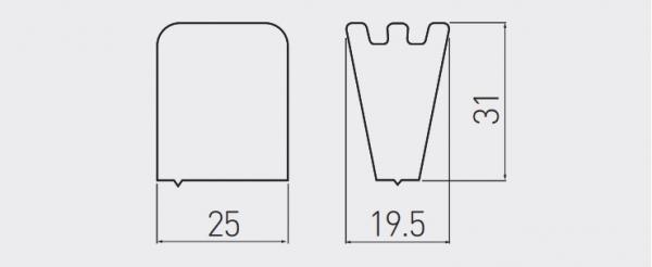Buton mobila GANZA, alb mat [1]