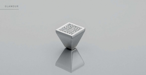 Buton mobila Glamour Crystal 30x28.5 mm 1