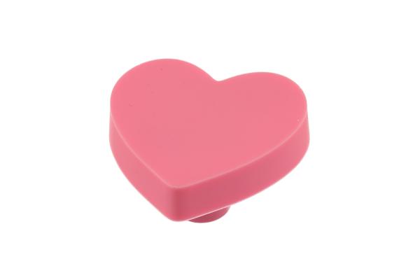 Buton mobila copii HEART 41x41 mm, roz 0