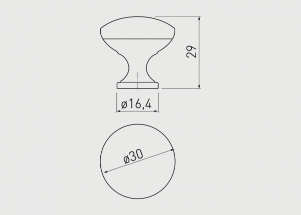 Buton mobila TERNI 30x29 mm, aluminiu [1]