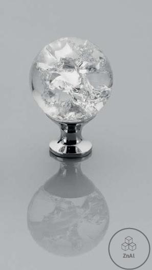 Buton mobila White Crystal 30x43 mm 1