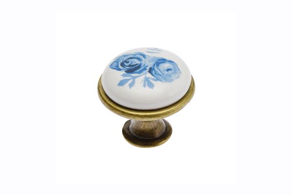 Buton mobila Blue Rose auriu 0