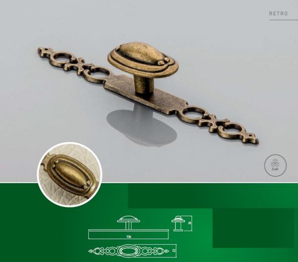 Buton mobila cu sild WP1146, alama antichizata 1