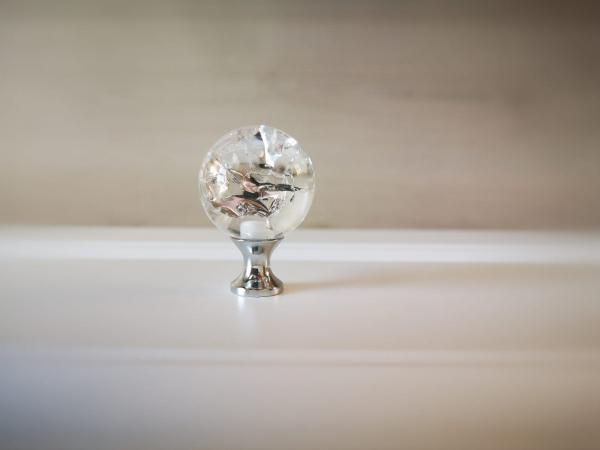 Buton mobila White Crystal 30x43 mm 4