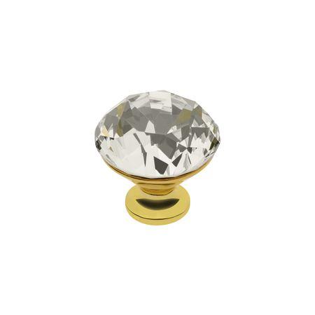 Buton mobila Crystal Gold D30 mm 0