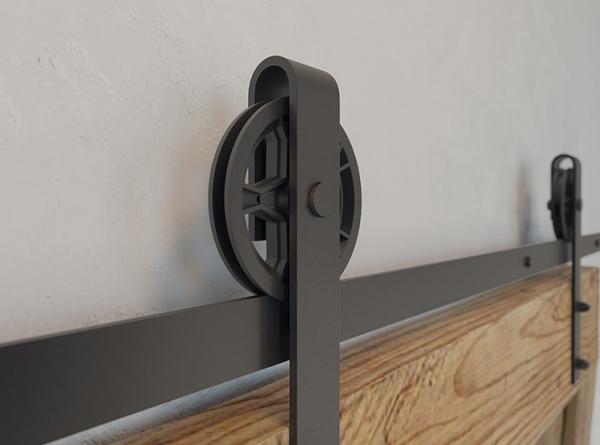 Sistem de culisare pentru usi de interior LOFT, negru mat 1