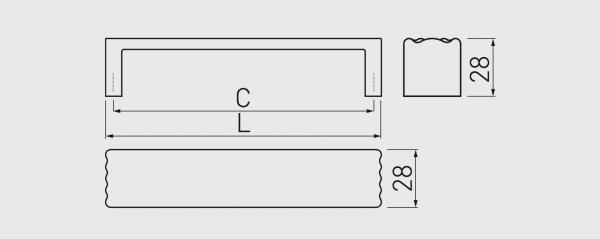Maner mobila CADIS 128 mm, cromat 2