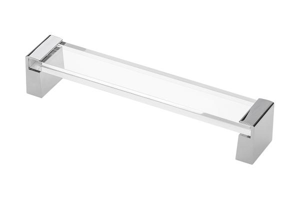 Maner mobila OLIVA 160 mm, crom si acryl transparent 0