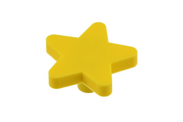 Buton mobila copii STAR 50x48 mm, galben [0]