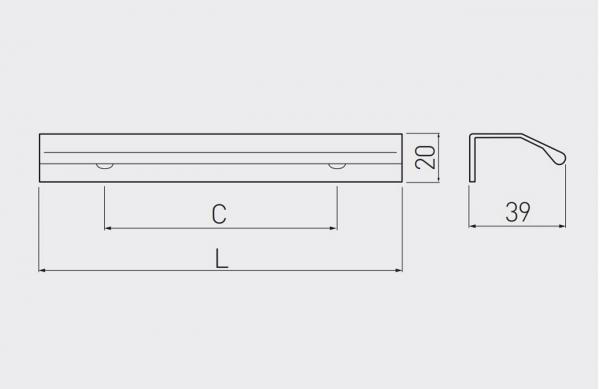 Maner mobila TREX 150 mm, negru mat 1