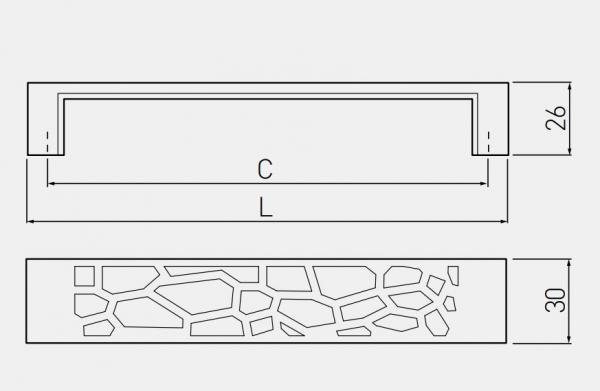 Maner mobila VERA 160 mm, titan 1