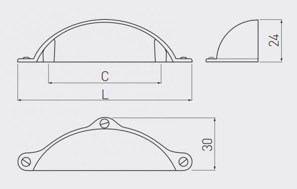 Maner mobila MARSALA 64 mm, titan periat [2]