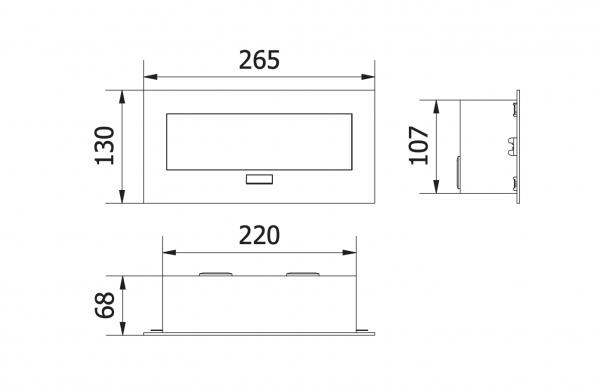 Priza incorporabila in blat, 2 Schuko, HDMI, cablu 1.5 m, Aluminiu 1