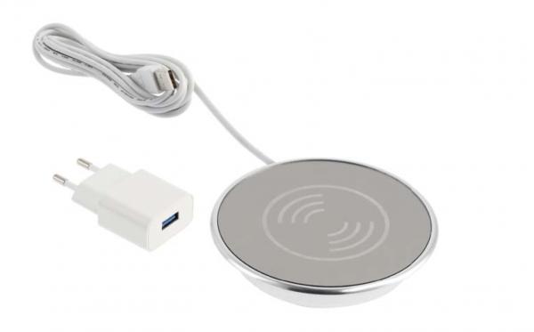 Incarcator wireless LUX, incastrabil in blat, cablu USB 2m 0