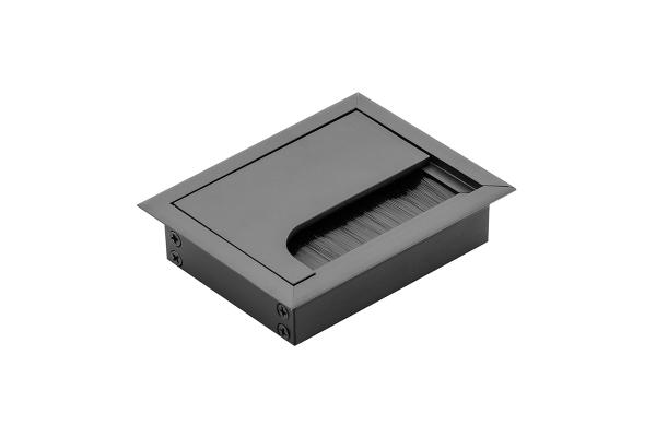 Trecere cabluri MERIDA 80x80 mm, negru mat [0]