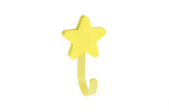 Agatatoare cuier copii STAR 50x85 mm, galben [0]