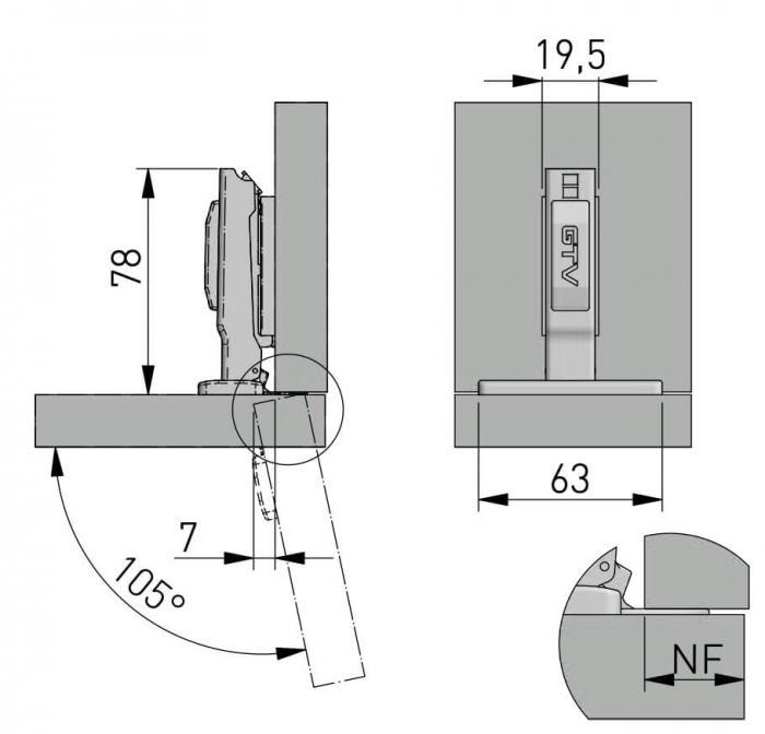 Balama aplicata cu amortizare GTV, neagra [3]