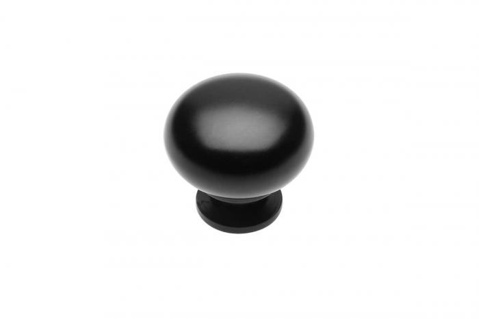 Buton mobila BERGAMO 32x30 mm, negru mat [0]