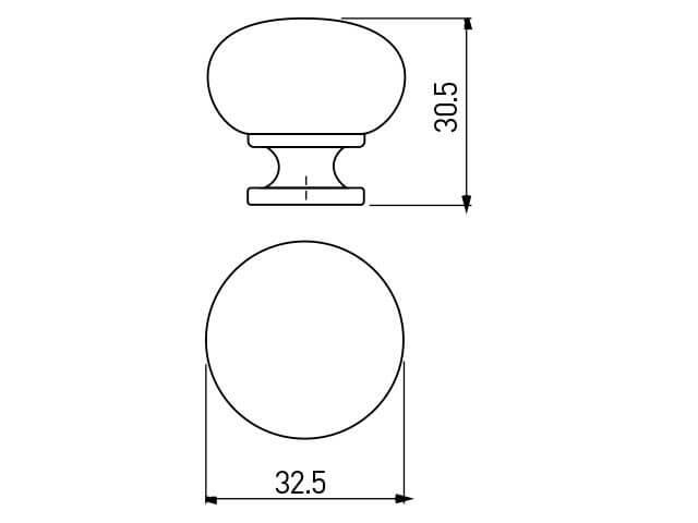 Buton mobila BERGAMO 32x30 mm, negru mat [2]