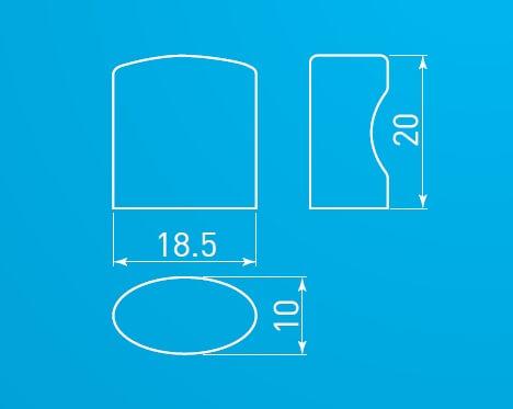 Buton mobila Cleo, cromat, 20x18.5 mm 2