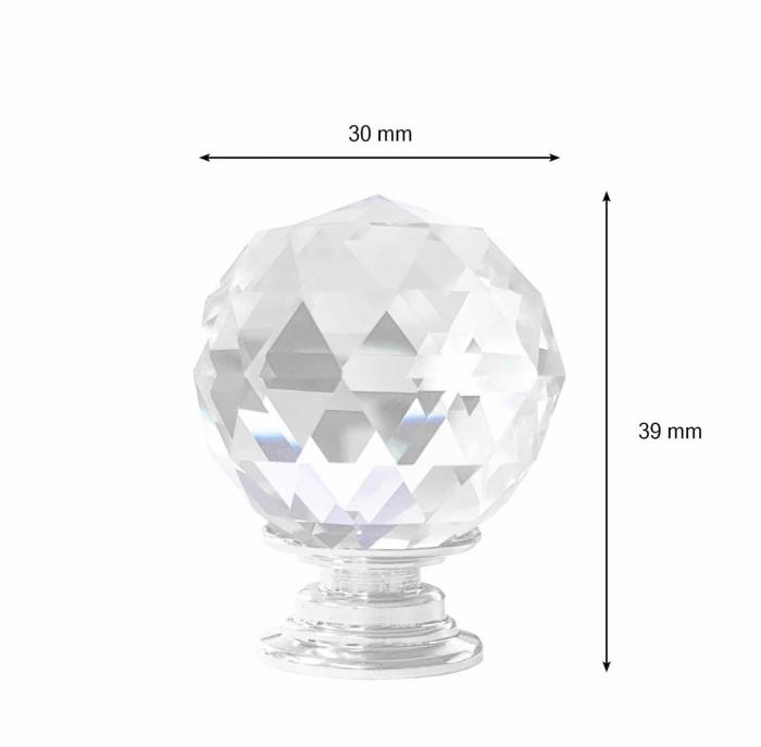 Buton mobila Crystal Palace J 30 mm 1