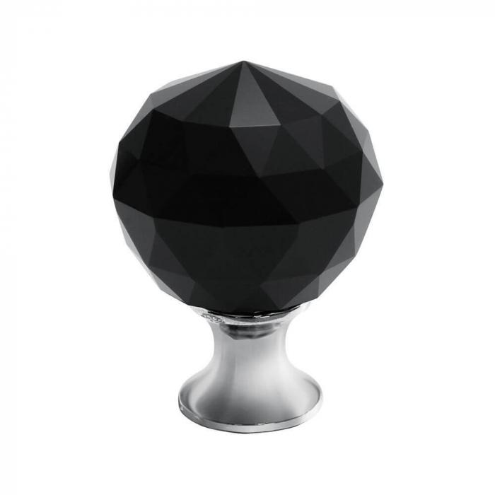 Buton mobila Crystal Palace 30x44 mm, negru 0