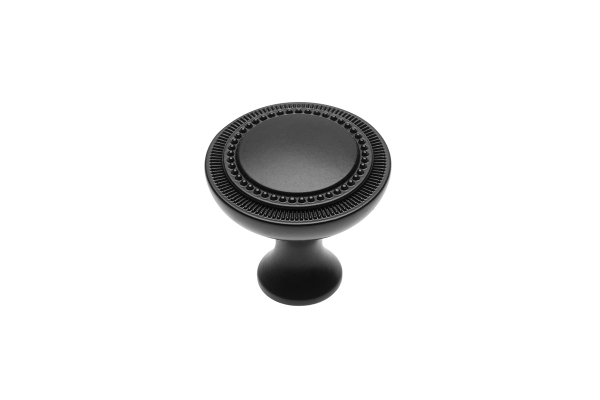 Buton mobila IMPERIA 31x31 mm, negru mat [1]