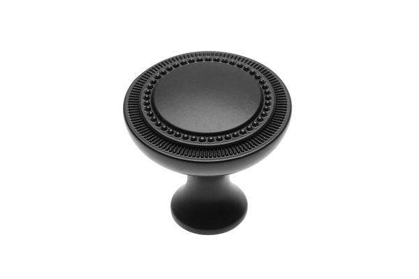 Buton mobila IMPERIA 31x31 mm, negru mat [0]