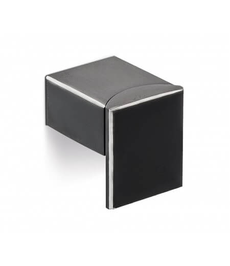 Buton mobila ARES 30x25 mm, negru mat [1]