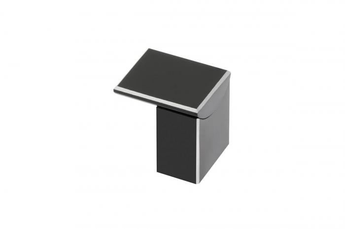 Buton mobila ARES 30x25 mm, negru mat [0]