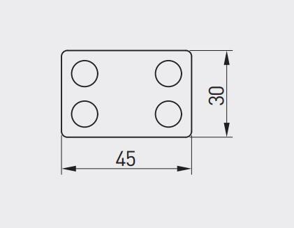 Buton mobila copii BLOCK 45x30 mm, rosu [1]