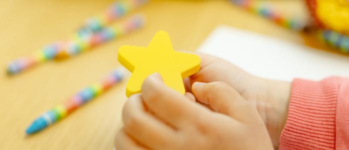 Buton mobila copii STAR 50x48 mm, galben [1]