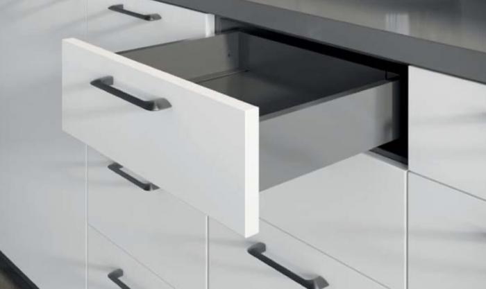Buton mobila MILAN 55x28 mm, negru mat [2]