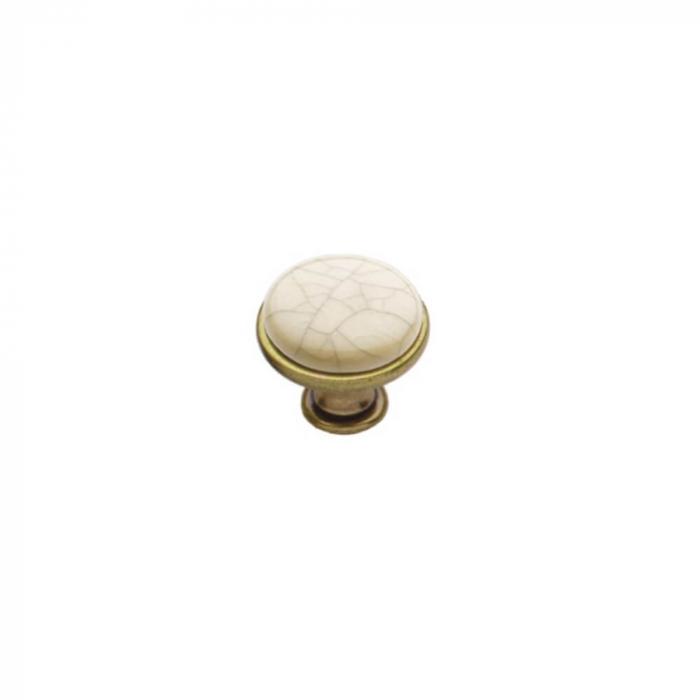 Buton mobila MLK4 29x24 mm, alama antichizata [0]