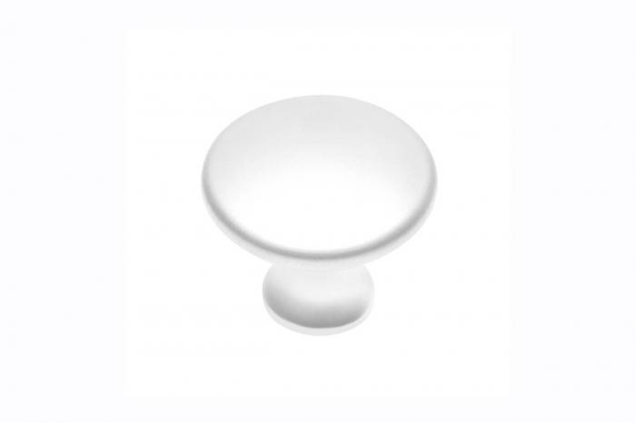 Buton mobila UDINE 29x25 mm, alb mat [0]