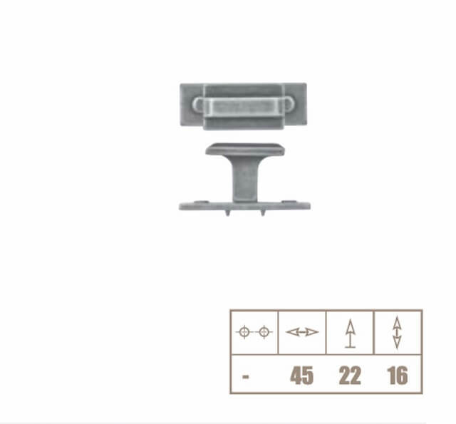 Buton mobila WPO118 45x22 mm, alama antichizata [2]