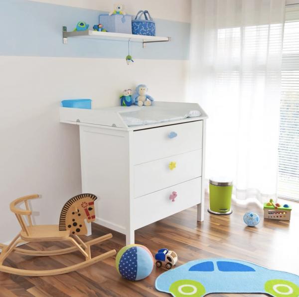 Buton mobila copii CLOUD 47x30 mm, albastru 2