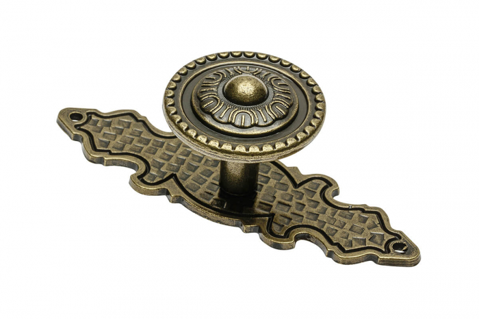 Buton mobila cu sild WP1136, alama antichizata 0