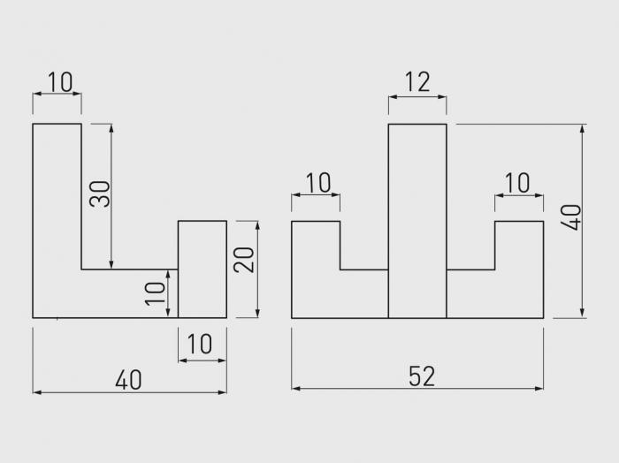 Agatatoare cuier K2202 52x40 mm, 2 agatatori, cromat 1