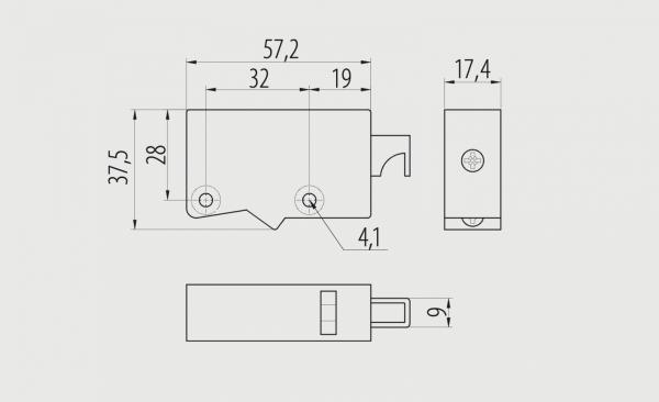 Element suspendare corp mobilier, set 2 buc, 50 kg, alb [1]