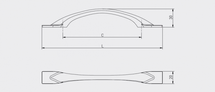 Maner mobila FLOW 128 mm, negru mat [2]