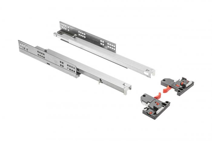 Glisiera 500 mm, extragere totala, soft close, reglaj 3D, pal 18 mm, 30 kg [0]
