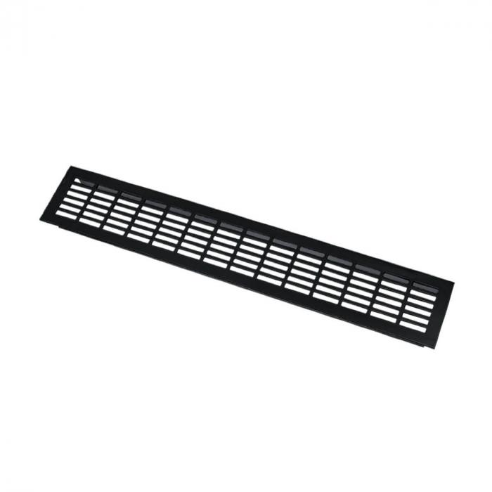 Grila ventilatie aluminiu, 480x80 mm, negru mat 0