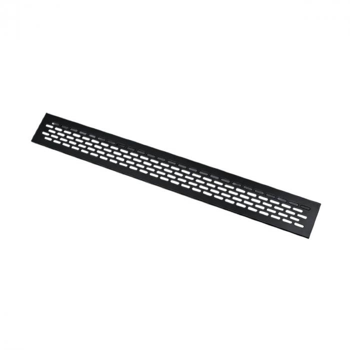 Grila ventilatie aluminiu, 484x60 mm, negru mat 0