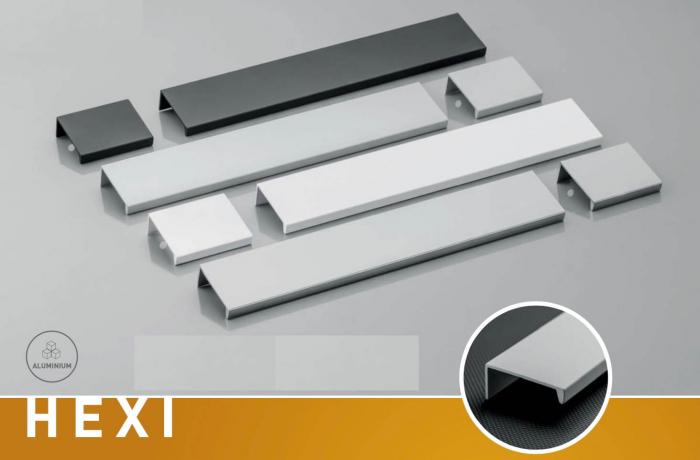 Maner mobila HEXI 150 mm, alb mat 1