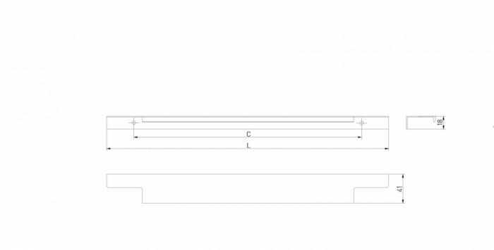 Maner mobila LIND 296 mm, negru mat [2]