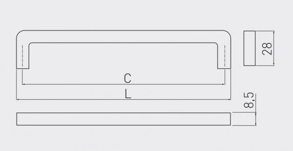 Maner mobila Bagio 128 mm, alama antichizata [1]